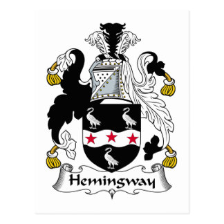 Hemingway Family Crest Postcard
