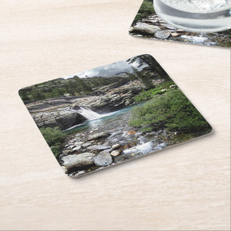 Hemlock Crossing Waterfall - Sierra Square Paper Coaster