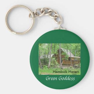 Hemlock Haven Green Goddess Keychain