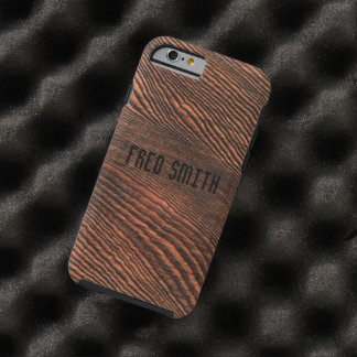 Hemlock Wood Grain iPhone 6 case *Personalize* Tough iPhone 6 Case