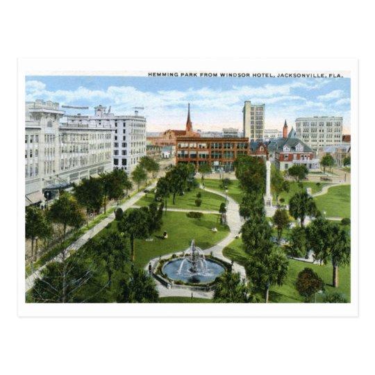 Hemming Park, Jacksonville FL 1920 Vintage Postcard