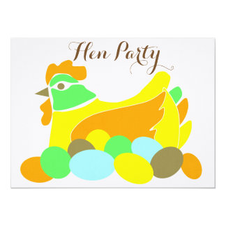 "Hen Party 5.5"" X 7.5"" Invitation Card"