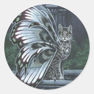 Henbane Grey Tabby Fairy Cat Sticker