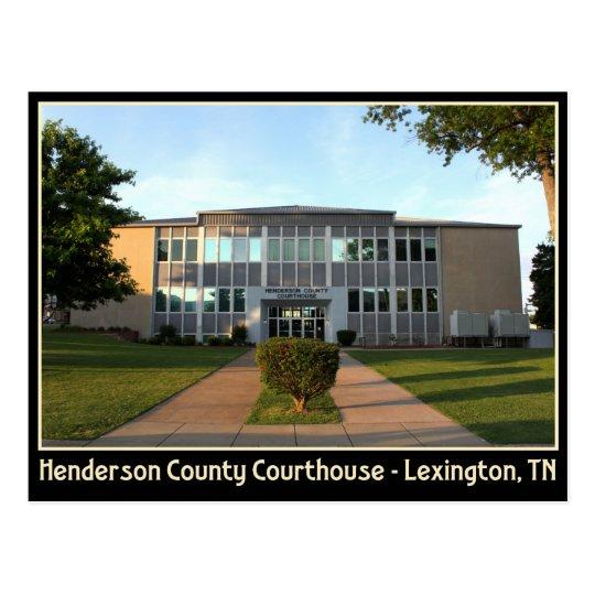 Henderson County Courthouse - Lexington, TN Postcard