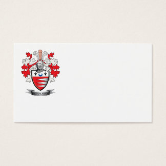 Henderson Family Crest Coat of Arms Business Card