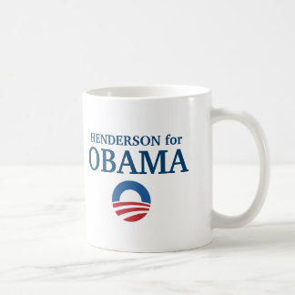 HENDERSON for Obama custom your city personalized Coffee Mug