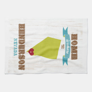 Henderson, Nevada Map – Home Is Where The Heart Is Kitchen Towel