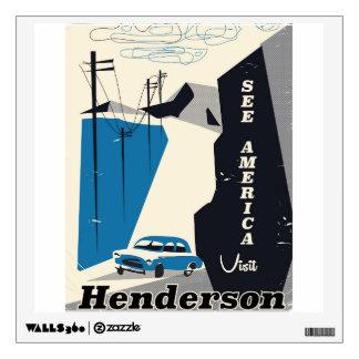Henderson Nevada USA travel poster Wall Sticker