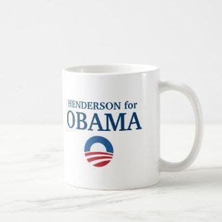 HENDERSON pour la coutume d'Obama votre ville pers Tasses
