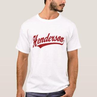 Henderson script logo in red T-Shirt