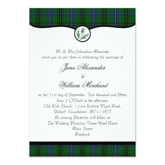 Henderson Tartan Plaid & Thistle Wedding Invites