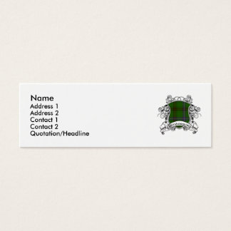 Henderson Tartan Shield Mini Business Card