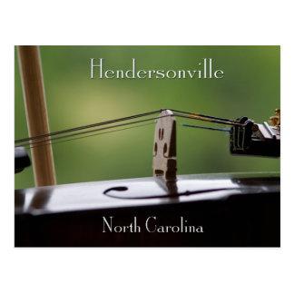 Hendersonville, NC Music Postcard