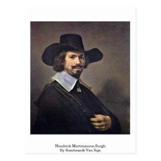 Hendrick Martenszoon.Sorgh By Rembrandt Van Rijn Postcard