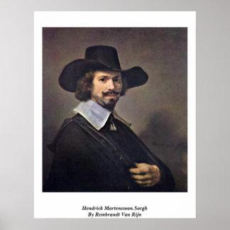 Hendrick Martenszoon.Sorgh By Rembrandt Van Rijn Print