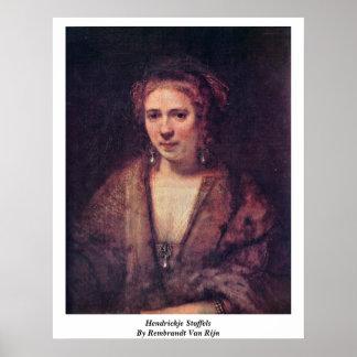 Hendrickje Stoffels By Rembrandt Van Rijn Poster
