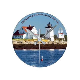 Hendricks Head Lighthouse, Maine Wall  Clock