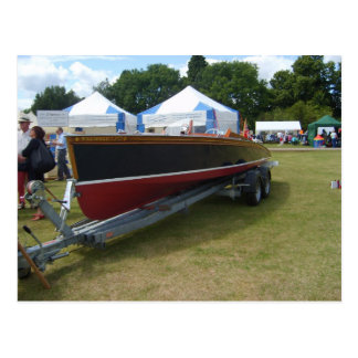 Henley on Thames, Classic motorboat on show Postcard