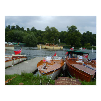 Henley on Thames, Classic Motorboats 1 Postcard
