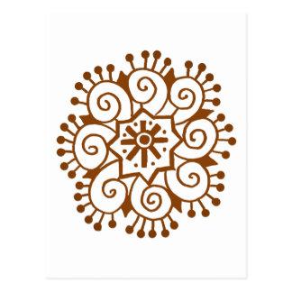 Henna Circle Postcard