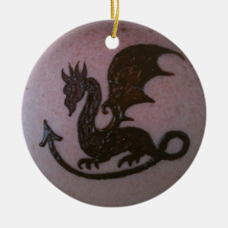 Henna Dragon Ornament