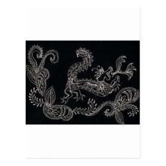 henna dragon postcard