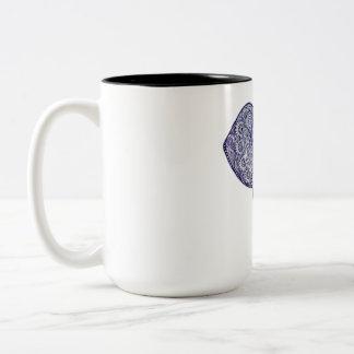 Henna Elephant Art design Two-Tone Coffee Mug