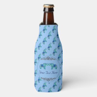 Henna Elephant (Blue/Light Blue) Bottle Cooler
