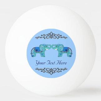 Henna Elephant (Blue/Light Blue) Ping Pong Ball