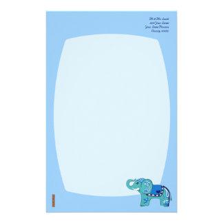 Henna Elephant (Blue/Light Blue) Stationery