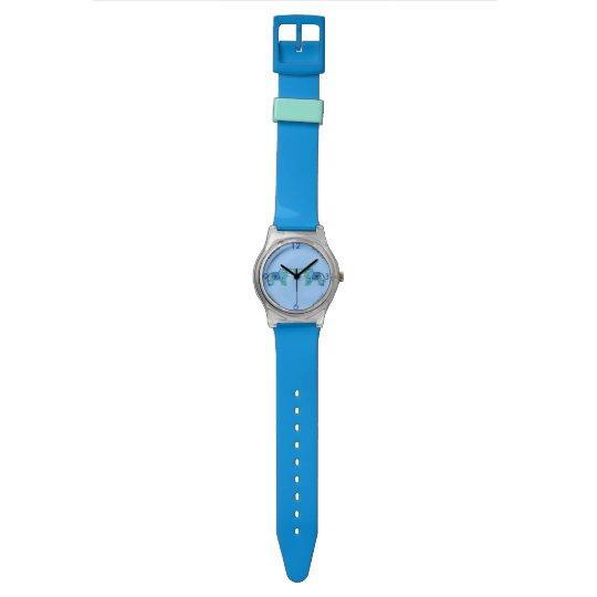 Henna Elephant (Blue/Light Blue) Watch