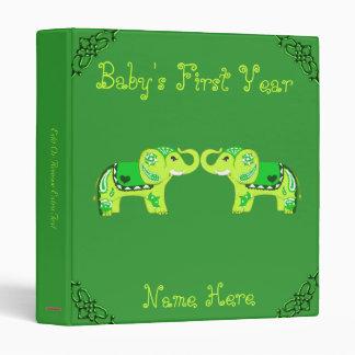 Henna Elephant (Green/Lime Green) Binders