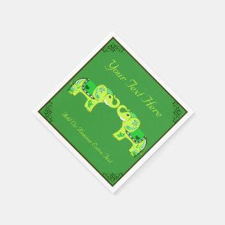 Henna Elephant (Green/Lime Green) Paper Napkin