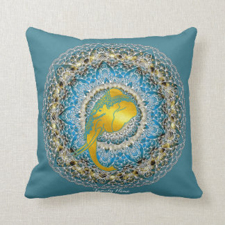 Henna Elephant Mandala Mindfulness Gift Throw Pillow