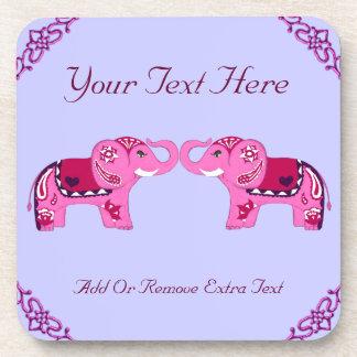 Henna Elephant (Pink/Purple) Coaster