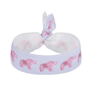 Henna Elephant (Pink/Purple) Hair Tie