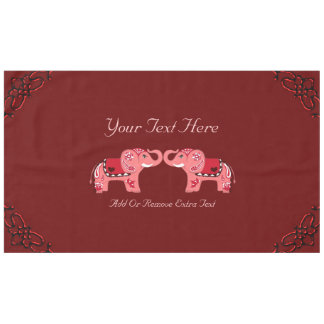 Henna Elephant (Red/Pink) Tablecloth