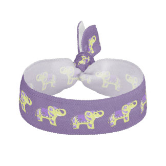 Henna Elephant (Yellow/Purple) Hair Tie