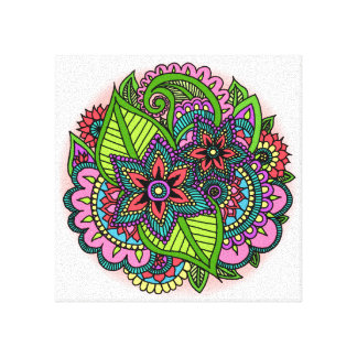 Henna Floral Canvas Print