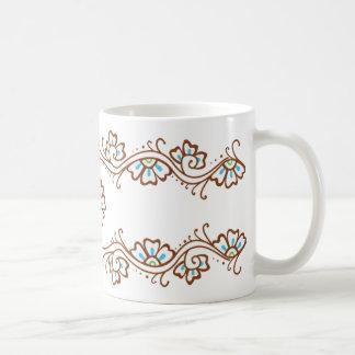 Henna Flower Chain Mug