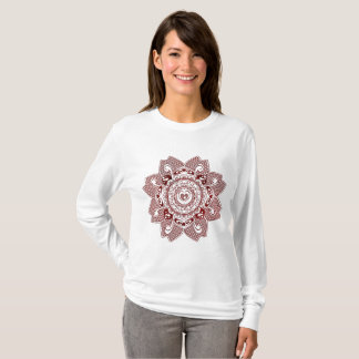 henna flower design T-Shirt