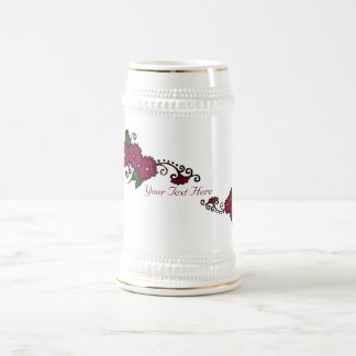 Henna Flower (Fuschia) Beer Stein