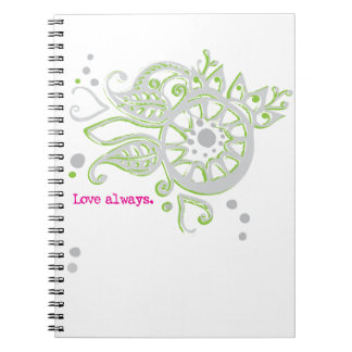 Henna Flower Love Always Drawing Notebook