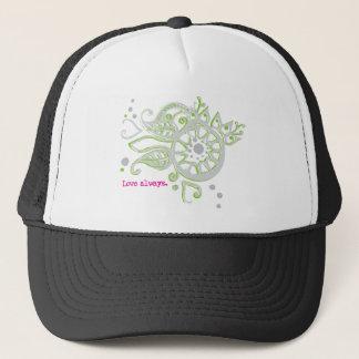 Henna Flower Love Always Drawing Trucker Hat
