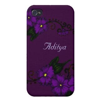 Henna Flower (Purple) iPhone 4/4S Covers