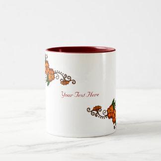 Henna Flower Two-Tone Coffee Mug