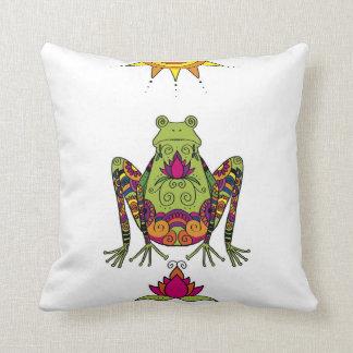 Henna Frog Pillow