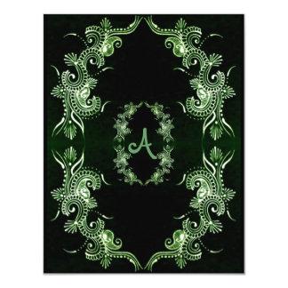 Henna Green Mehndi Bollywood 4.25x5.5 Paper Invitation Card