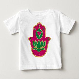 Henna Hamsa Lotus Green & Pink Baby T-Shirt
