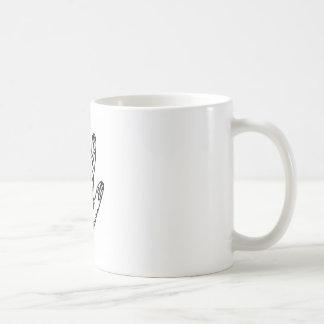 Henna hand classic white coffee mug